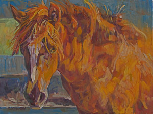 Sue Johnson has painted many of the horses at Windhorse Sanctuary | VIEW MORE PAINTINGS BY SUE JOHNSON